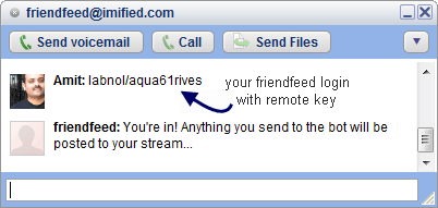friendfeed google talk
