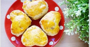 食譜 》蔓越莓全麥司康&杏仁核桃全麥司康/Scone/英式鬆餅。刷蛋液vs鮮奶比較。(早餐、點心、下午茶食譜)