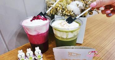 台北大安飲料》JOOCE Nut Mylk Tea堅果奶·茶,小鏟子吃超美抹茶&火龍果奶蓋健康純素堅果奶
