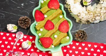 甜點食譜》超夯草莓抹茶戚風蛋糕三明治食譜自己做!聖誕節甜點