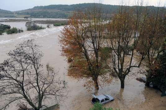 The river La Berre, near the city of Portel-des-Corbières (Aude).