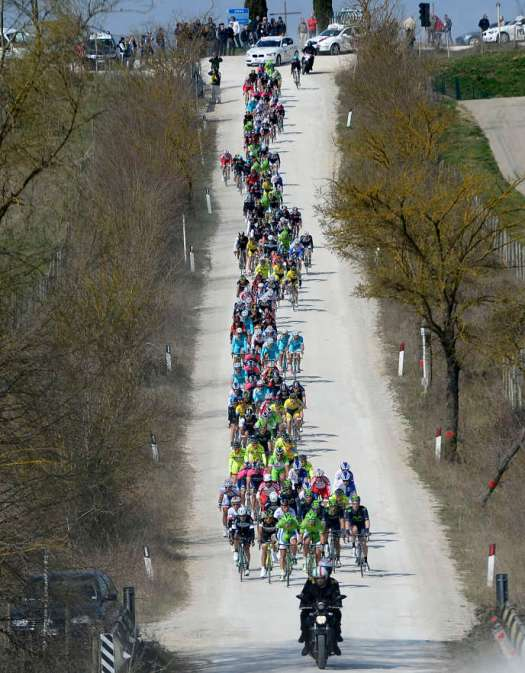 Les Strade Bianche 2014.