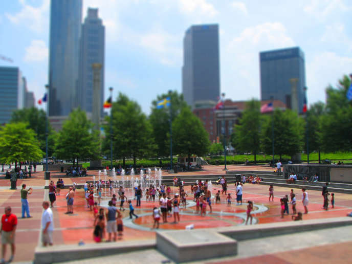 View of Atlanta Centennial Park, in the heart of the city.