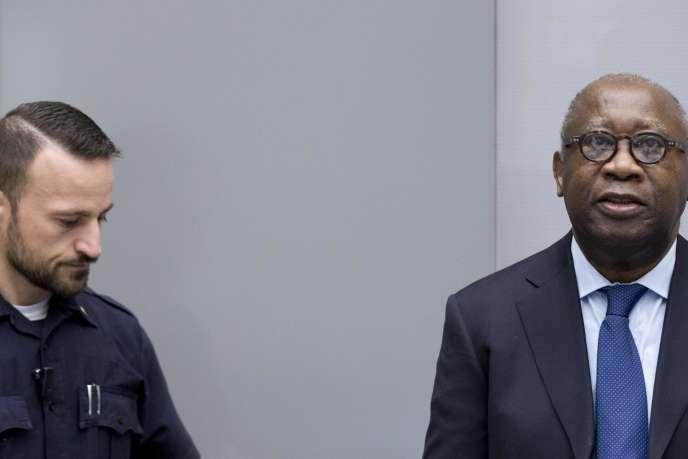 L'ancien chef de l'Etat ivoirien Laurent Gbagbo, lors de son procès pour crimes contre l'humanité devant la Cour pénale internationale, en 2019, à La Haye (Pays-Bas).