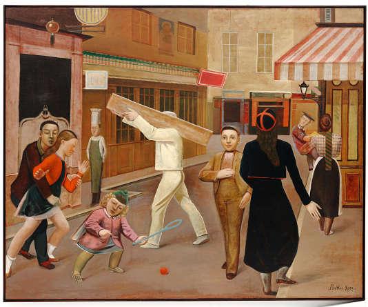 «La Rue» (1933), de Balthus (1908-2001), huile sur toile.