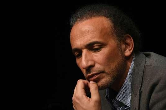 L'islamologue suisseTariq Ramadan, en mars 2016.