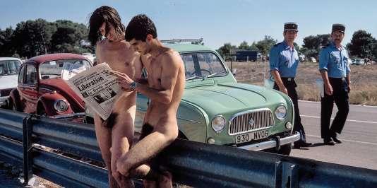 Sur la route du festival de jazz-rock Riviera 76, sorte de Woodstock français, au Castellet, dans le Var, en 1976.