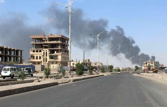 Aden, le 30janvier 2018, lors des combats entre les forces gouvernementales et les séparatistes sud-yéménites.