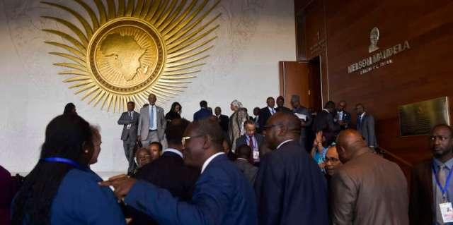 Au siège de l'Union africaine, lors du 30e sommet des chefs d'Etat, à Addis-Abeba, le 27janvier 2018.