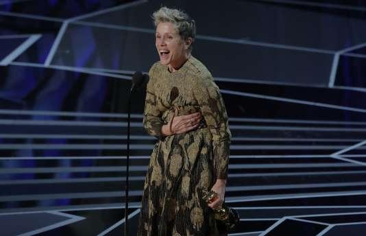 Frances McDormand obtient l'Oscar de la meilleure actrice pour «3 Billboards, Les panneaux de la vengeance».