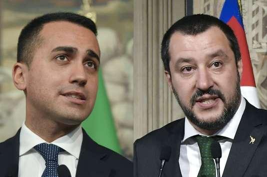 Le leader du Mouvement 5 étoiles, Luigi Di Maio, et celui de la Ligue, Matteo Salvini, doivent s'accorder sur le nom du futur président du Conseil.