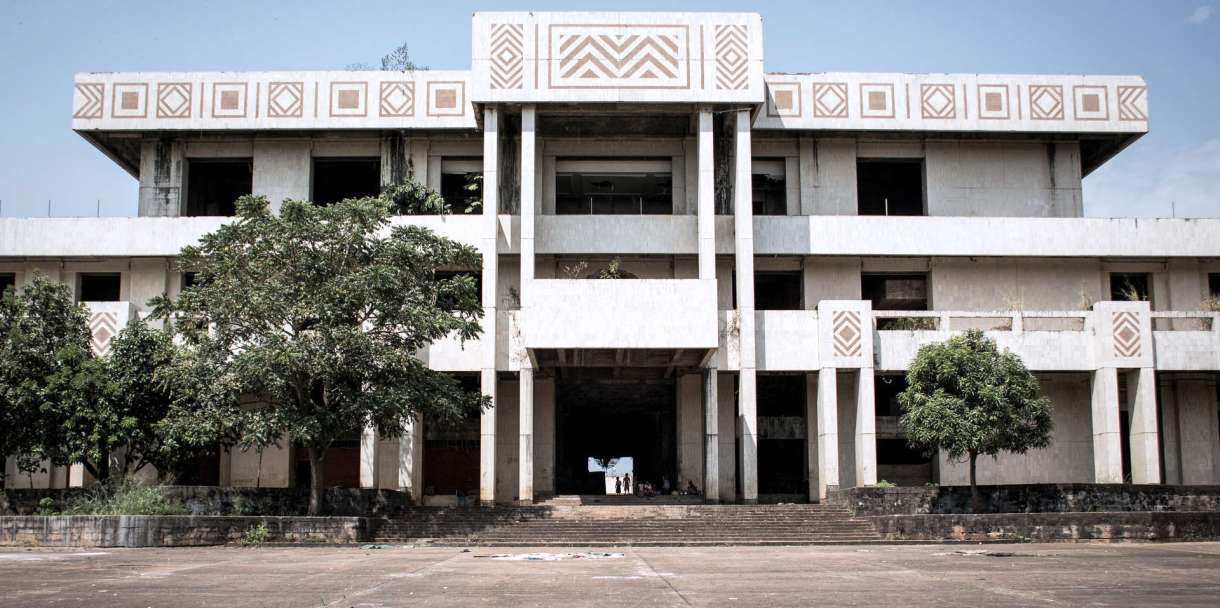 Le palais de Mobutu, à Gbadolite, fin 2017.