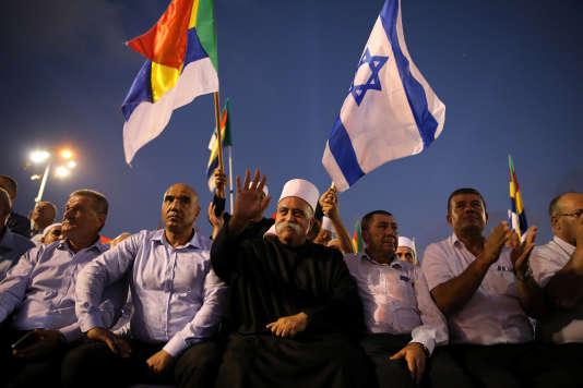Manifestation de la minorité druze, à Tel-Aviv, le 4 août.