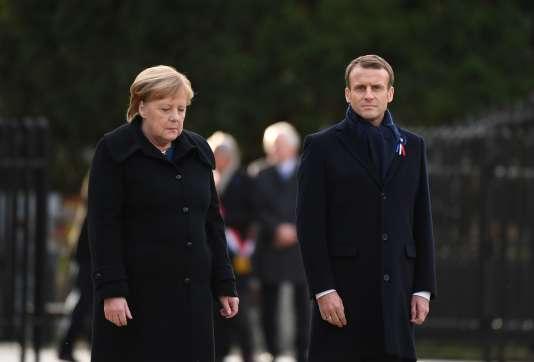Angela Merkel und Emmanuel Macron in Rethondes Samstag, 10. November