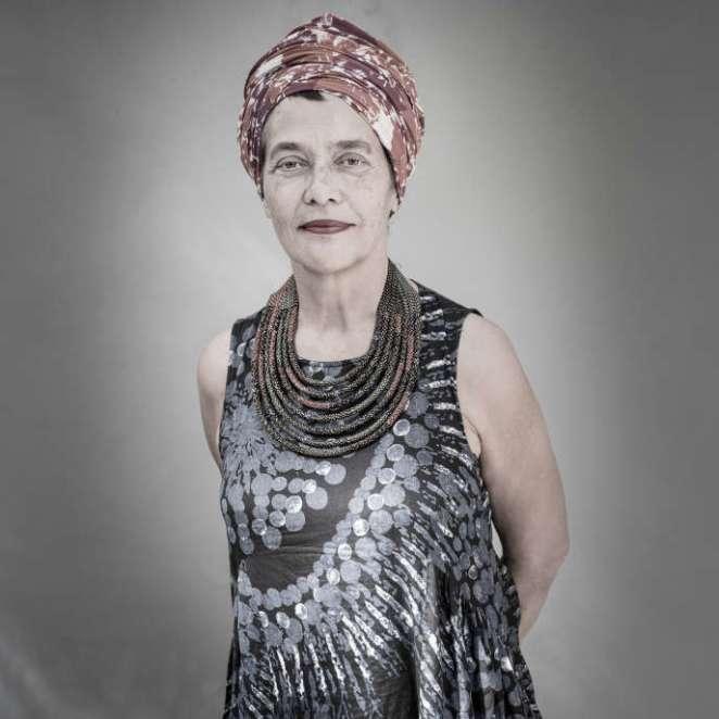 La politologue et auteure Françoise Vergès, à Dakar en 2016.