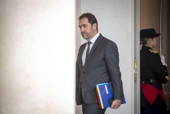Christophe Castaner, Innenminister, verlässt den Ministerrat am Mittwoch, dem 5. Dezember, im Pariser Elysee.