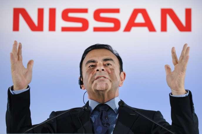 L'ancien dirigeant de Nissan, Carlos Ghosn, le 11 mai 2012, au siège du constructeur automobile, à Yokohama (Japon).