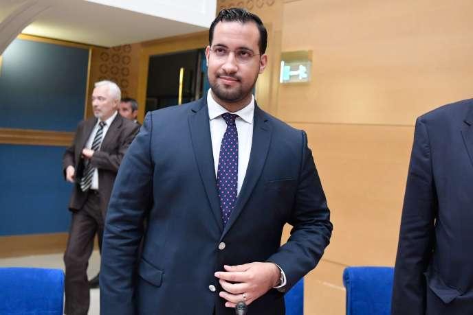 Alexandre Benalla, lors de son audition par la commission des lois du Sénat, le 19septembre2018.