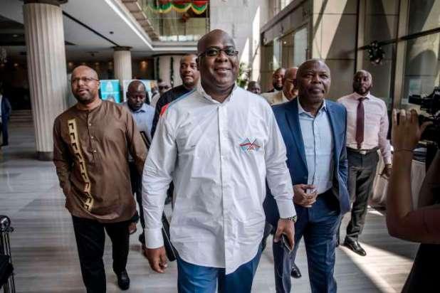 L'opposant Félix Tshisekedi, élu à la tête de la République démocratique du Congo, àKinshasa, le 29décembre2018.