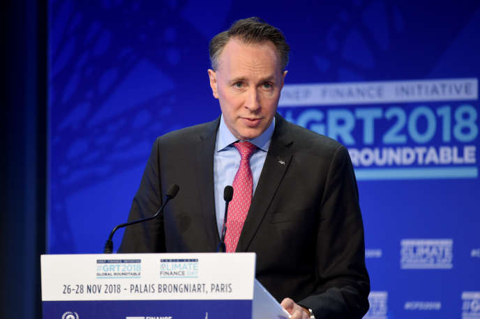 Thomas Buberl, Managing Director of Axa, Paris, November 26, 2018