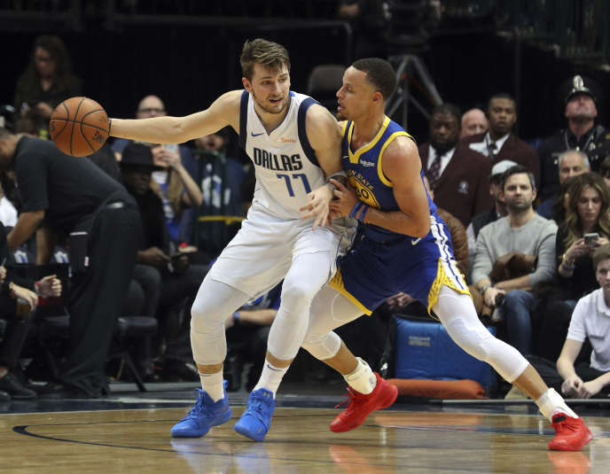 The Slovenian Luka Doncic, opposite Stephen Curry, embodies the international shift of the NBA.