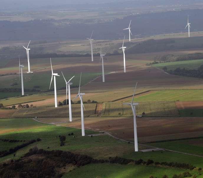 Wind farm of Fruges in the Pas-de-Calais.
