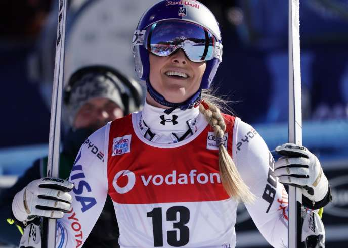 Lindsey Vonn after the descent of Cortina d & # 39; Ampezzo, January 18th.