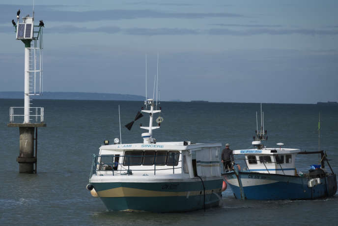 Fishing boats from Grandcamp-Maisy, Calvados, in October 2018.