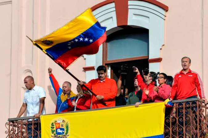 Nicolas Maduro à Caracas le 23 janvier.
