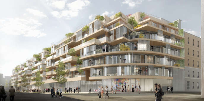 Emerige and Icade will build a private housing building on the Vaugirard Ateliers site.