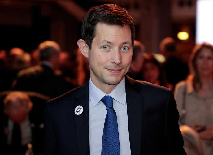 Francois-Xavier Bellamy lors du diner annuel du Conseil représentatif des institutions juives de France, le 29 février à Paris.