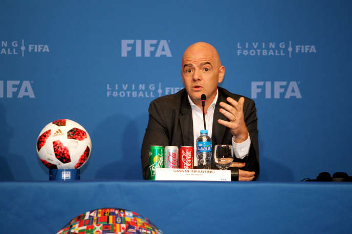Press conference by Gianni Infantino, FIFA President, Doha, Qatar, December 13, 2018.