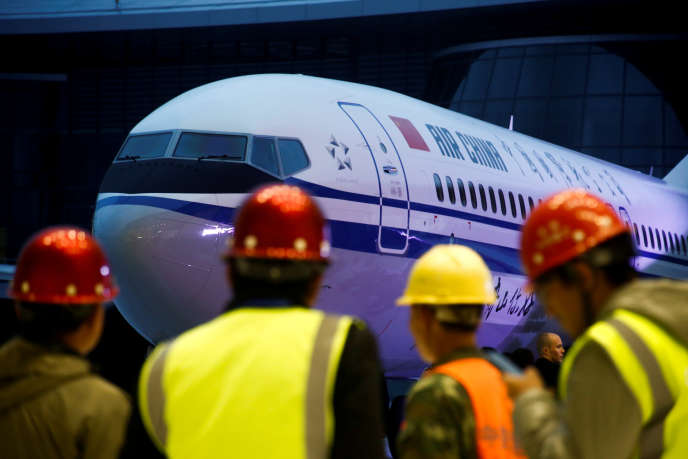 Le Boeing 737 Max 8 lors de sa première livrée à la compagnie Air China, le 15 décembre 2018 dans la province de Zhejiang.