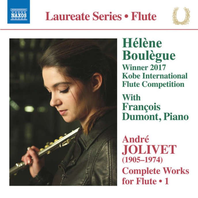"""Cover of the album """"Complete work for flute (vol.1),"""" by André Jolivet."""