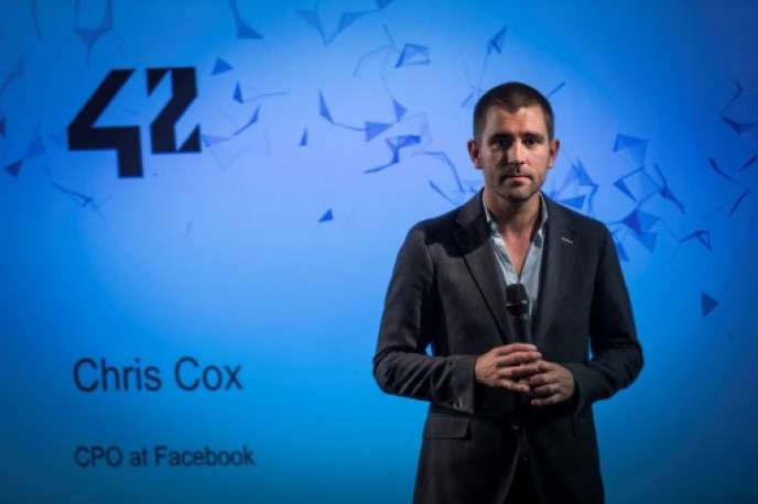 Chris Cox a récemment été promu au poste de chef de produit, supervisant Facebook, mais aussi Instagram et WhatsApp. Ici en 2016 à Paris.