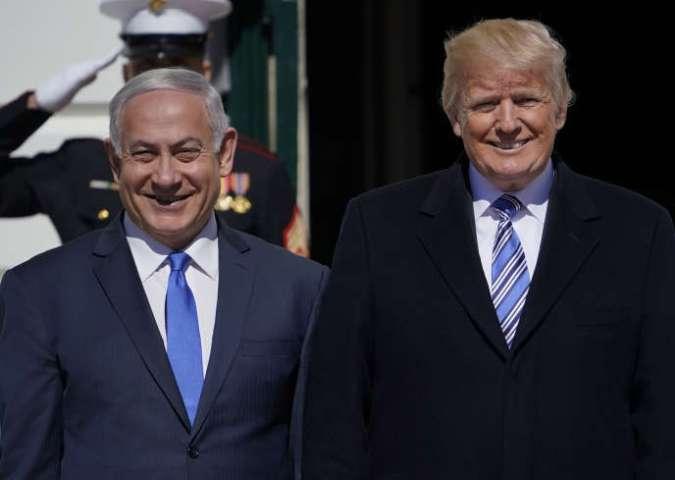 Donald Trump et Benyamin Nétanyahou, à Washington, le 5 mars.