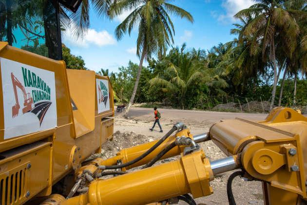 Equipements de l'entreprise KaravanChanjman abandonnés depuis des mois sur l'Ile-à-Vache.