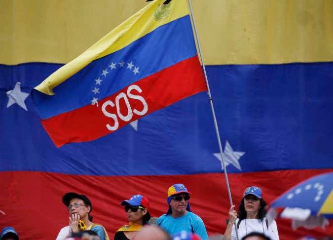 Lors d'une manifestation soutenant Juan Guaido, le 11 mai à Caracas.