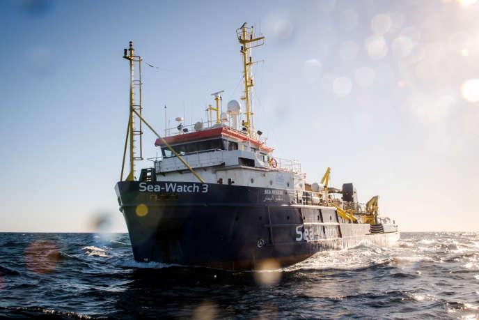 Le navire Sea-Watch 3 près de la côté libyenne le 19 décembre 2018.