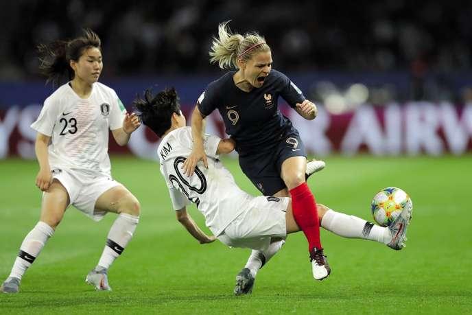 El equipo de Francia venció a Corea del Sur 4-0 en el partido inaugural de la Copa Mundial Femenina el 7 de junio.