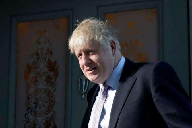 Boris Johnson, leader du parti conservateur britannique, quitte son domicile londonien, le 20 juin 2019.