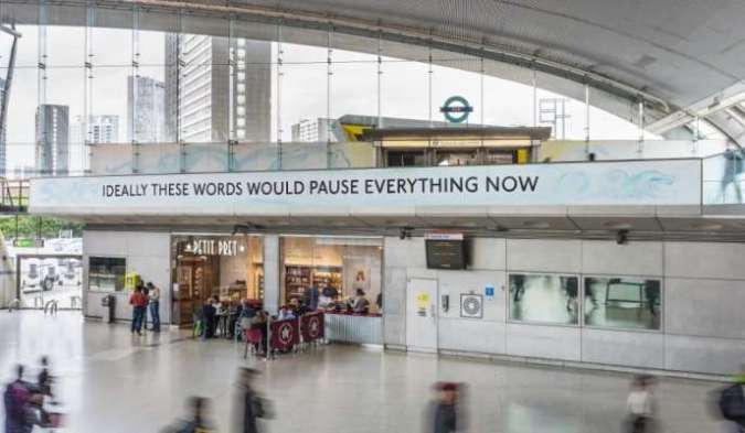 « You are deeper than what you think », de Laure Prouvost,Stratford Station, Londres, 2019.