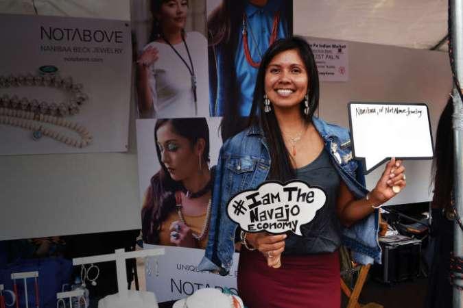 La créatrice de bijoux Nanibaa Beck a installé les ateliers de sa marque Notabove dans l'espace de coworking, Change Labs, inauguré en mai 2019.
