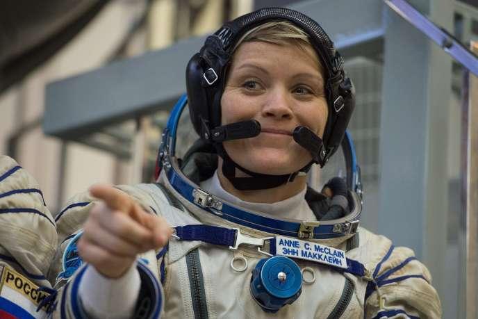 L'astronaute Anne McClain, à Moscou, le 14 novembre 2018.