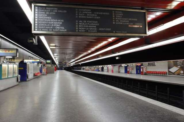 La station Auber sur le RER A, le 22 décembre 2009.