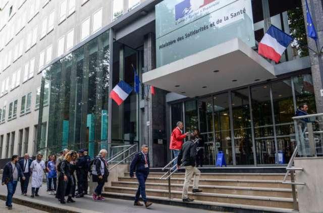 L'entrée du Ministère des solidarités et de la santé , à Paris, le 11 juin.