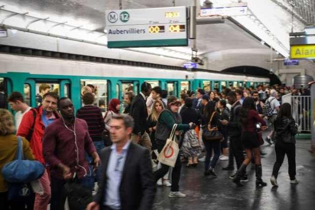 Une rame de métro à Paris, le 12 Septembre.