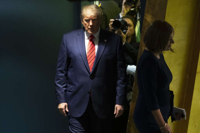 Donald Trump, le 24 septembre à l'ONU, à New York.