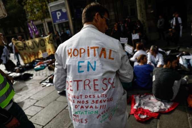 Manifestation du personnel hospitalier à Paris, le 26 septembre.