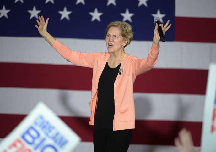 Massachusetts Senator Elizabeth Warren, Democratic nomination candidate, campaigning in Raleigh, North Carolina, on November 7th.